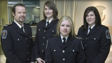 Craig MacInnes, Virginia Warner, Patricia St. Denis and Amanda Walkowiak (left to right) attempted to save the life of Const. Eric Czapnik the morning of Dec. 29, 2009.